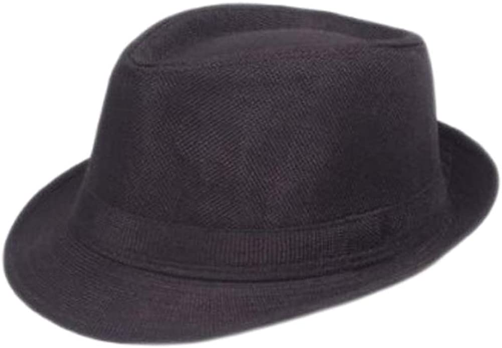 U2BUY Unisex Classic Fedora Hat Cotton Solid Color Short Brim Sun Hats