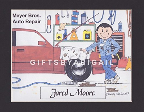 Selling rankings Mechanic Gift Personalized Custom Cartoon 8x10 Memphis Mall Magne Print 9x12