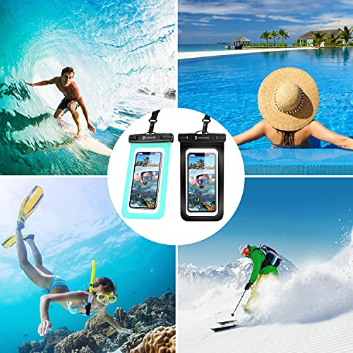 Syncwire Waterproof Phone Pouch [2-Pack] - IPX8 Waterproof Phone Case Dry Bag with Lanyard Compatible with iPhone 13/12/11 Pro XS MAX XR X 8 7 6 Plus SE 5s Samsung S10+ and More Up to 7 Inches
