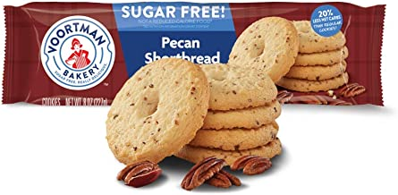 Voortman Bakery Sugar Free Pecan Shortbread Cookies, 8 oz., Pack of 4 – Cookies Baked with Real Pecans, No Artificial Colors, Flavors or High-Fructose Corn Syrup, 20% Less Net Carbs