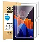 Kokio 2 Pcs Protector de Pantalla para Samsung Galaxy Tab S7 Plus,SM-T970,T975, Anti-aceite, Anti-Huellas, Resistente a los arañazos Película Protectora para Samsung Galaxy S7 Plus 12.4'