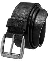 Men's Jean Belt, Super Soft Full Grain Leather Prospero Comfort Black, Size 28