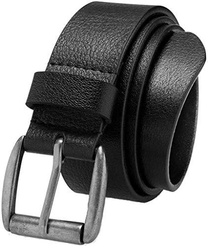 Belts for Men, Men's Casual Belt, Super Soft Full Grain Leather, Black, Size 34