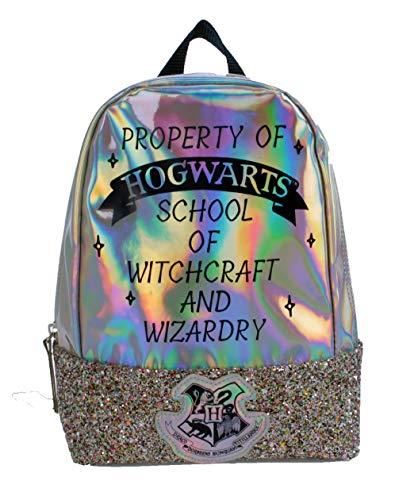 Harry Potter Kinder-Rucksack, silberner Glitzer, Schulranzen