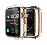 Yolin [2-Pack] Apple Watch Series 5 / Series 4 Schutzhülle, iwatch case Weiche Superdünne TPU iwatch Bildschirmschutz All-Aro& Hülle für Apple Watch Series 5 / Series 4 40mm