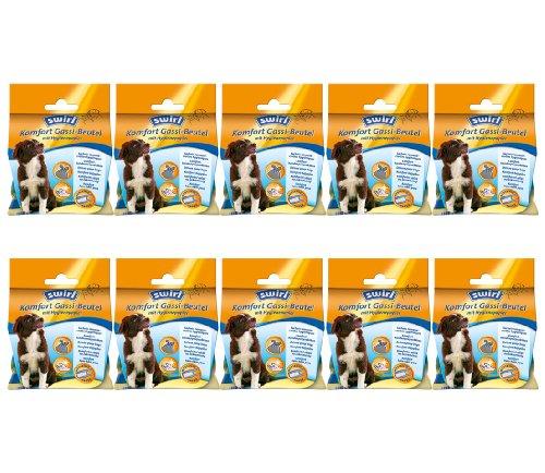 Swirl 10 x Komfort Gassi-Beutel mit Hygienepapier, 12 Beutel (= 120 Beutel)