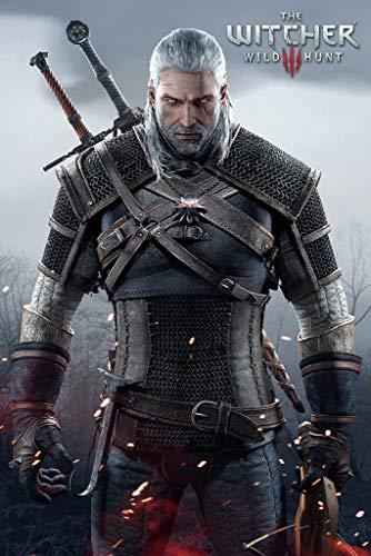 Poster per videogiochi Witcher 3 Wild Hunt Geralt of Rivia, dimensioni 30 x 45 cm