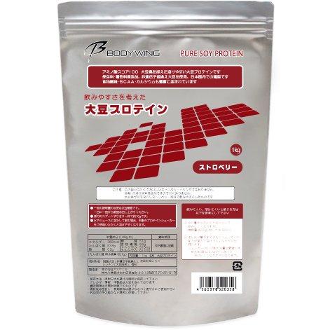 大豆プロテインストロベリー飲みやすいソイプロテイン(1kg)