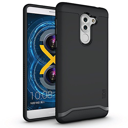 TUDIA Honor 6X Case, Slim-Fit Heavy Duty [Merge] Extreme Protection/Rugged but Slim Dual Layer Case for Huawei Honor 6X (Matte Black)