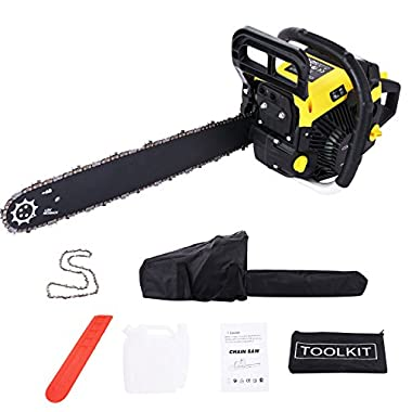 Meditool 3.5HP 58cc 2 Stroke Gas Powered Chain Saw, 20  Powerful Petrol Chainsaw (58CC)