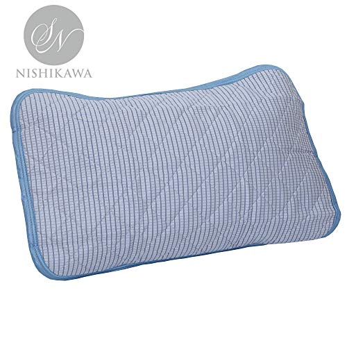 昭和西川 枕パッド ブルー 63×43cm クール テクノロジー ポリエチレン 冷感 枕パッド 2240304650305 まくら