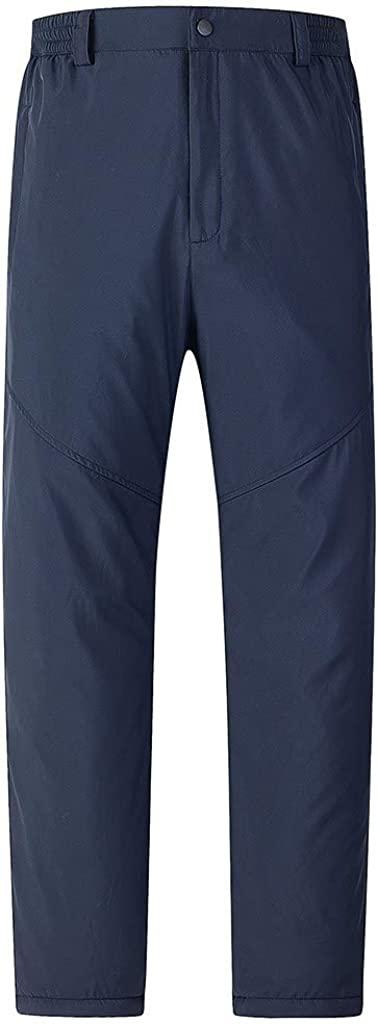 NotingBuss Men's Thermal Fleece Lined Casual Pants Winter Waterproof Windproof Thicken Stretch Warm Trousers