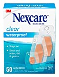 Nexcare Waterproof Bandages, Family Pack, Clear, Assorted Sizes, 50...