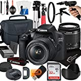 Canon EOS 2000D / Rebel T7 DSLR Camera with 18-55mm Zoom Lens + Platinum Mobile Accessory Bundle Package Includes: SanDisk 32GB Card, Tripod, Case, Pistol Grip and More (21pc Bundle)