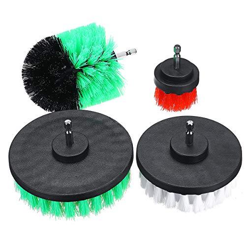 XCQ 4 stücke Elektrische Fliesen-Mörtel-Bohrmaschine Bürstenwäscher-Combo-Wannen-Reinigungswerkzeug für Auto langlebig 0324