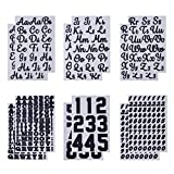 12 Sheets Iron-on Letters GIGIK Heat Transfer Soft Flock Letters Black Three-Dimensional Flocking Iron On Letters for T-Shirt Clothes Bags DIY Craft Decors
