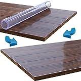 uyoyous Tischdecke Tischfolie Schutzfolie Tischschutz PVC Folie TransparentTischschutzfolie, 90 x190 cm, 2mm dick, Tischdecken Wasserdicht für Garten/Esszimmer/Büro - 3