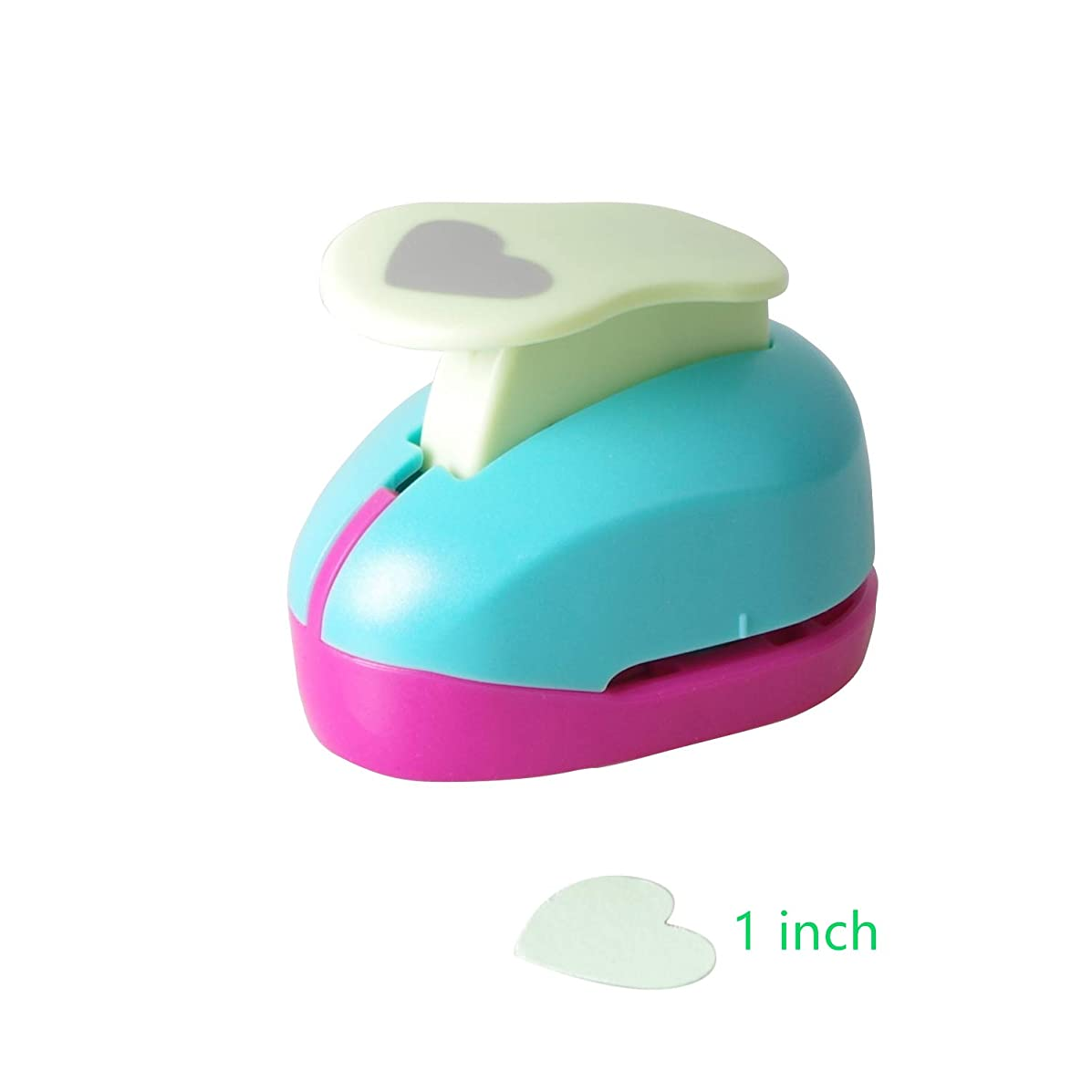 Heart Punch 1 inch Craft Lever Punch Handmade Paper Punch Candy Color by Random(Candy Herat)