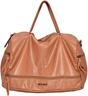 Large Capacity Women Bags Shoulder Tote Bag soft PU Motorcycle Messenger bags casual handbags Top-handle bags,Yellow,S