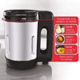 Morphy Richards 501027 Compact Saute & Soup Maker, Stainless Steel, 900 W, 1 Liter, Brushed Aluminium and Black
