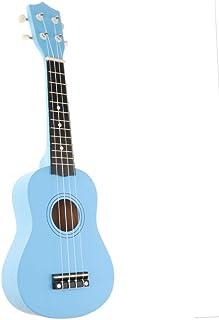Baosity 21'' Ukulele Kids Starter 4 String Vintage Beginner Ukuleles Fast Learn Songbook - Blue