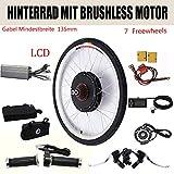 DiLiBee Kit de conversión del Kit de conversión de Bicicleta eléctrica LCD Bicicleta eléctrica 26 '' Kit de conversión de Bicicleta eléctrica 36V 500W para Rueda Trasera