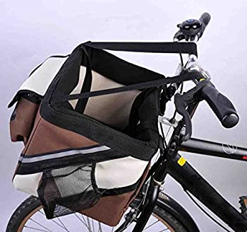 Hi Suyi Panier à vélo pour Chien Chat Avant Sac de Transport Pliable Portable Respirant Transporteur de Bicyclette Multi-Poche Voyage Camping