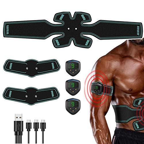 FYLINA Muskelstimulation Elektrostimulation EMS Trainingsgerät Professionelle USB Muskelstimulator Elektrische Bauchmuskeltrainer Elektrostimulatoren für Damen Herren(12 Pads) Grün