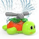 Kiztoys Sprinkler für Kinder, Wasserspielzeug Gartensprinkler für Kinder in Schildkrötenform Spinning and Splashing Turtle, Fun Toy für Kinder im Freien Spielen