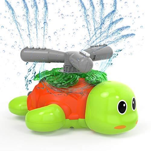 Kiztoys&1 Wasserspielzeug Sprinkler für Kinder Gartensprinkler für Kinder in Schildkrötenform Spinning and Splashing Turtle Fun Toy für Kinder im Freien Spielen