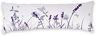 AILOVYO Butterflies Body Pillow Cases Cute Purple Flower Silky Shiny Satin Body Pillow Cover Custom Material 20x54 Inch