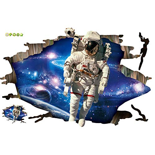 Kindergarten living room bedroom background solar system wall stickers children's room outer space 3d wall decals