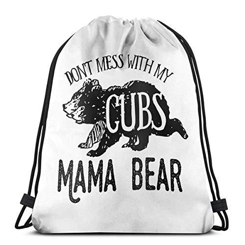 Mochila Con Cordón,Bolsas De Cuerdas Gimnasio,Mama Bear Don