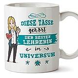 Mugffins Lehrerin Tasse/Becher/Mug Geschenk Schöne and lustige kaffetasse - Diese Tasse gehört der...