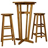 Festnight Conjunto de Muebles de Bar Conjunto de Mesa y...