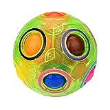 XXHH Bola mágica del arco iris, luminoso alivio del estrés mágico bola del arco iris divertido cubo Fidget rompecabezas educación juguete para niños/adultos