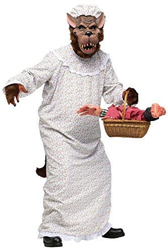 Lustiges Herren-Kostüm - Großer Böser Wolf Großmutter,One size, Rotkäppchens Oma