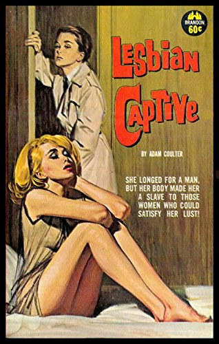 Lesbian Captive Fridge Magnet 3.5 x 5 Vintage Pulp Fiction Magnetic Poster