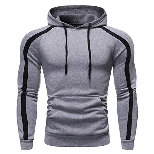 Sweat à Capuche Hommes T-Shirts Casual Pull Automne Hiver Slim Respirant Léger Slim Hoodies Sweat-Shirt Classique Simple Hauts de Sport Moderne Course Fitness Cyclisme Entraînement Haut XXL