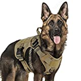 Tactical Dog Harness Large Service Dog Vest with Handle, Military Dog Safety Harness