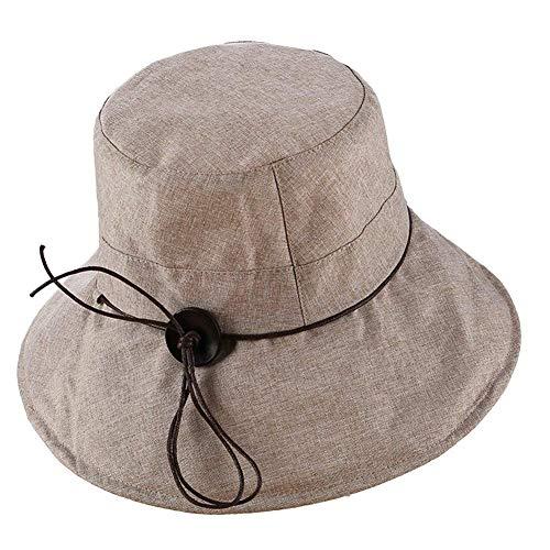 Sombrero del Balde De Las Mujeres Color Outdoor Sombrero Sólido Anti para...
