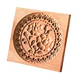 Cookie Cutters Wood Cookie Mold, Flower Biscuits Mold 3d Wooden Cookie Cutter Embossing Molds Rose Shape Baking Moulds Gingerbread Mold DIY Cookie Mold for Cakes,biscuits and Sandwiches