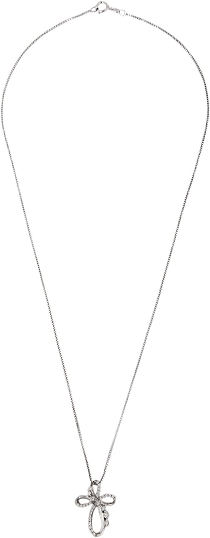 1 6 Carat T.W. Diamond Sterling Silver Cross Pendant