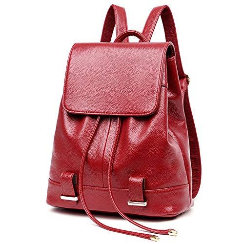 Die Neue weiche Oberfläche PU-Schulterbeutel Klassische Art und Weise Wilde Hochleistungspumpen mit einem Rucksack Schulranz,rot,Free Size