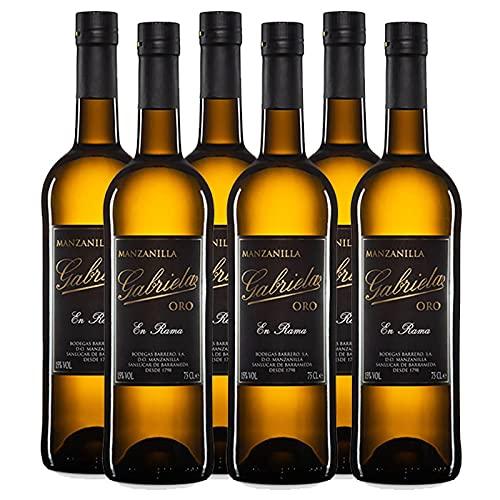Vino Manzanilla en Rama Gabriela Oro de 75 cl - D.O.Manzanilla-Sanlucar de Barrameda - Bodegas Barrero (Pack de 6 botellas)