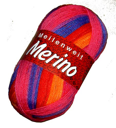 Lana Grossa Merino Meilenweit 2103 Sockenwolle100g