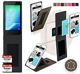 Hülle für TP Link Neffos Y50 Tasche Cover Case Bumper | Braun Wildleder | Testsieger