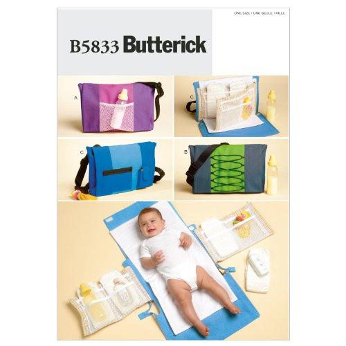 Butterick Patterns B5833 Einheitsgröße Windeltasche und Wickelauflage, Weiß, 1 Stück