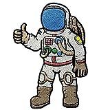 Toppa ricamata da applicare con ferro da stiro o da cucire, a forma di astronauta
