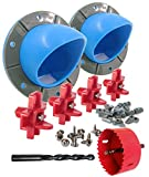 STOLTCO DIY Port Poultry Feeder Kit with Saw, Drill, Waterers - Turn Buckets, Bins, Barrels Into Chicken Feeders & Waterers
